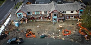 Drone photo of Telegraph Townhomes Project