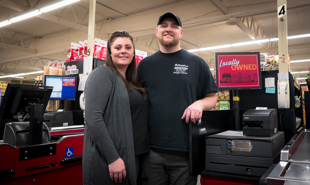 Bret and Chelsie Acton of Grocery Outlet