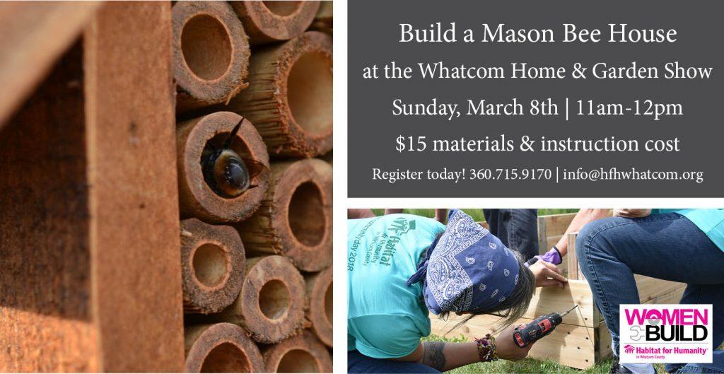 Build a mason bee house workshop