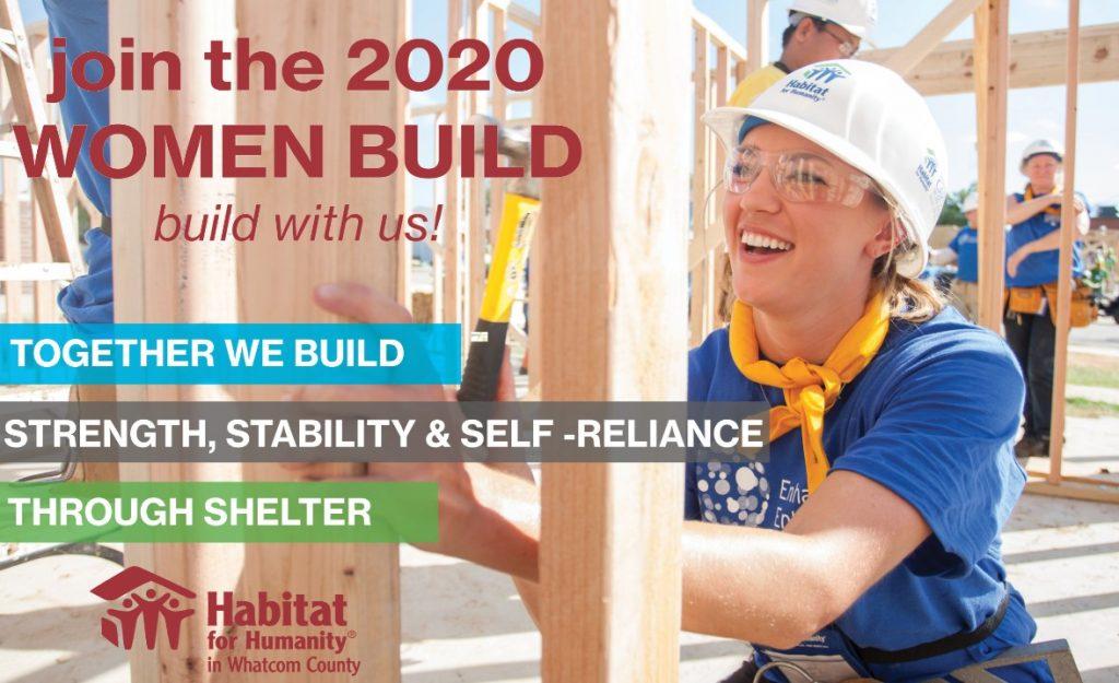 Women Build 2020 campaign art
